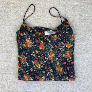 TUCKER FOR TARGET floral silky blouse